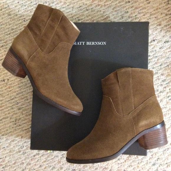 Matt Bernson Shoes - 🆕 Matt Bernson x GOOP suede boots with sheep fur